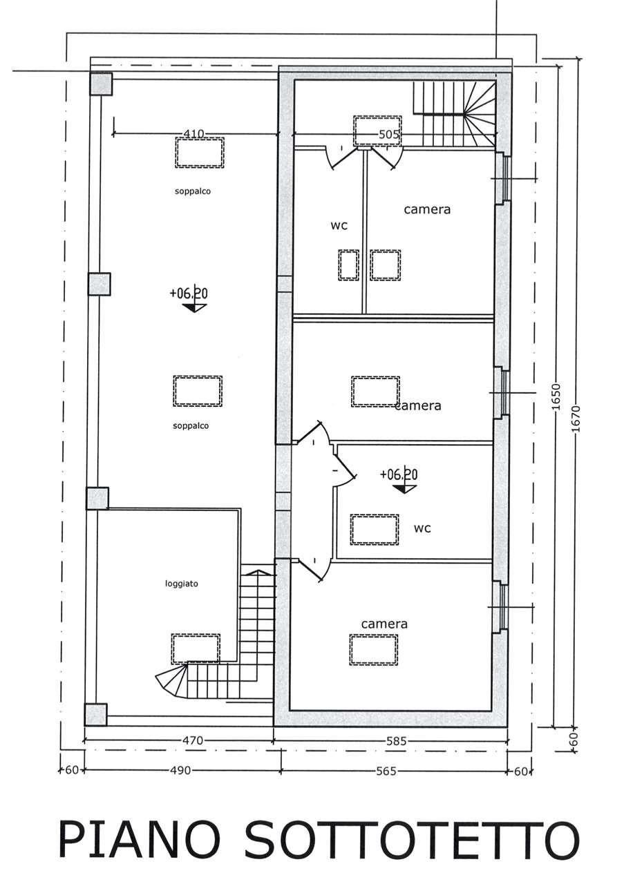 Planimetria Piano Sottotetto